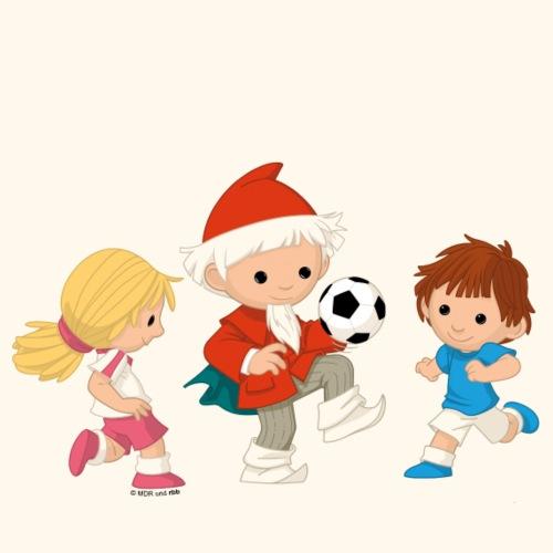 Sandmann Fussball mit Kinder