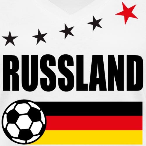 43 Russland 5 Sterne Deutschland Fahne Fußball