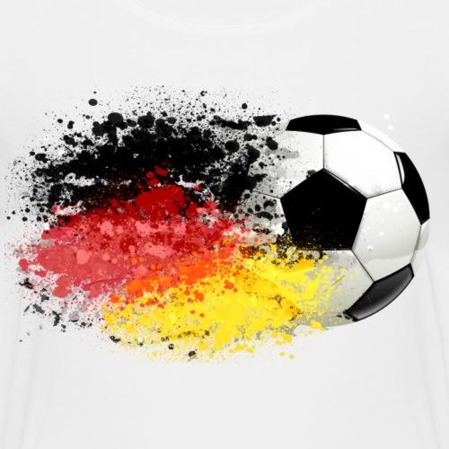 52 Fussball fliegt Deutschland Fahne Splash Klecks