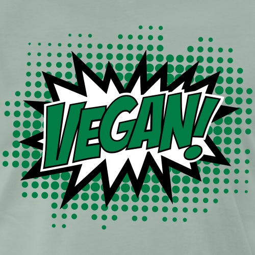 Vegan, Comic Book Style, Green, Explosion, 3c