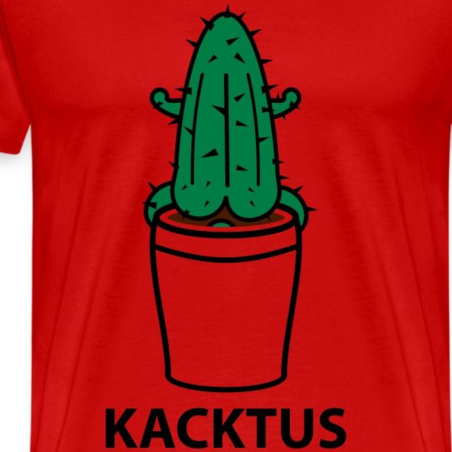 Grappig mannen T-shirt Cactus met kak ertussen