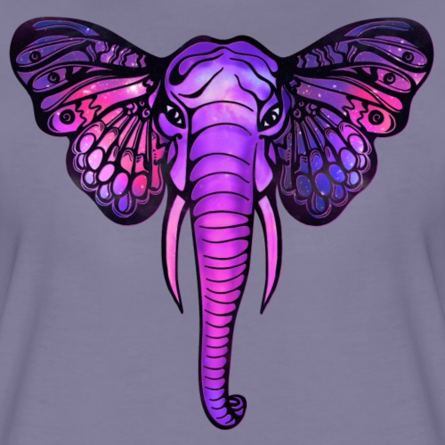Space Elefant, Schmetterling, galaxy, elephant,