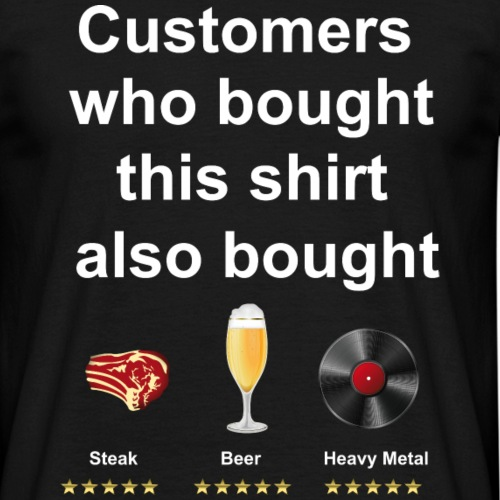 Funny T-Shirt Steak, Beer, Heavy Metal