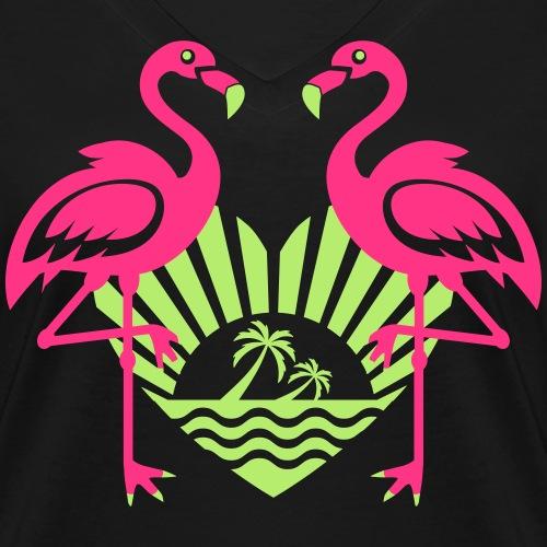 Flamingos Heart Sun Summer Mood Palm Beach 13