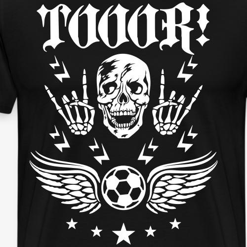 54 Fußball Tor Totenkopf Skull Wings