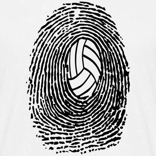 Fingerabdruck Volleyball