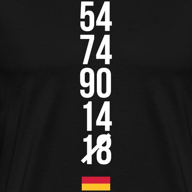 Tyskland ingen world champion 2018 svart rött guld T-shirts