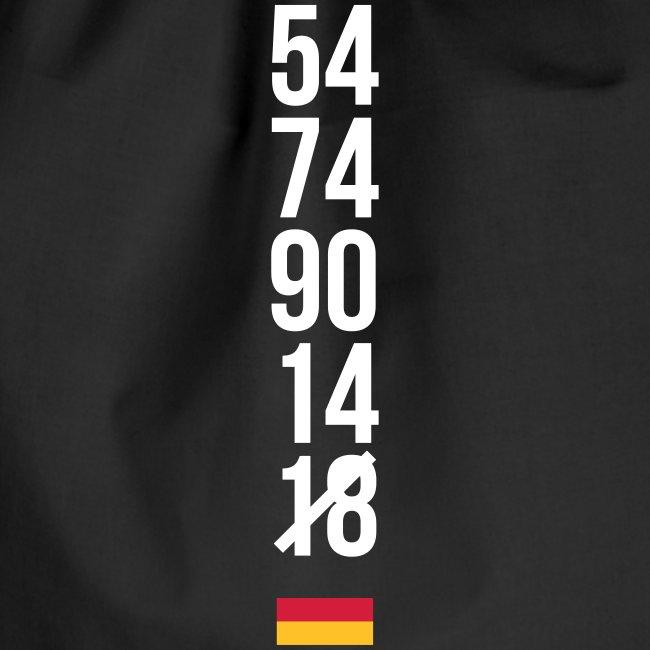 Tyskland ingen world champion 2018 svart rött guld Väskor & ryggsäckar