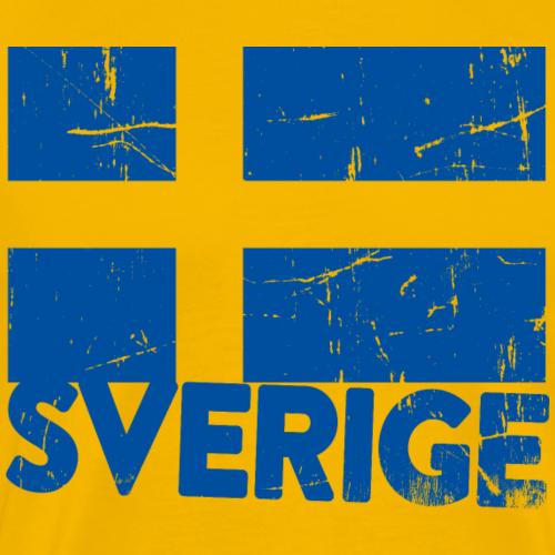 Sverigeflagga med text