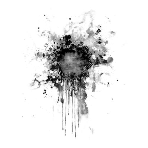Black Splatter Point