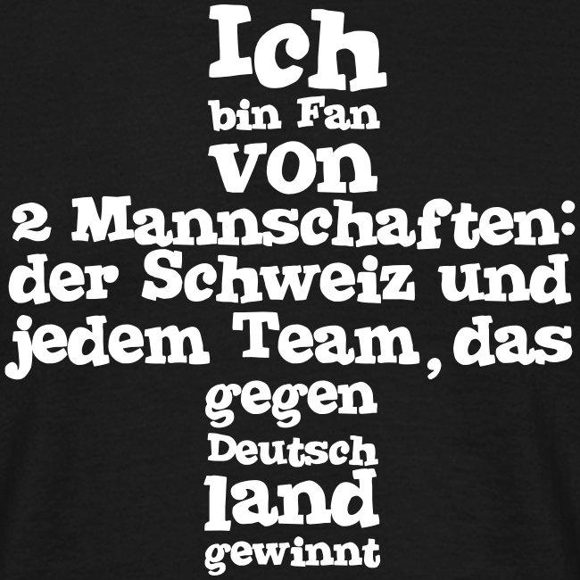 Herren T-Shirt  |  Fan von zwei Mannschaften