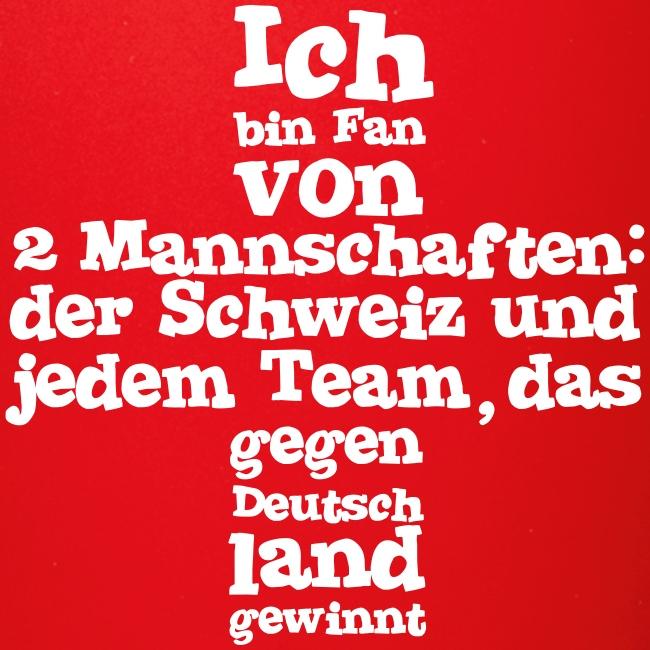 Tasse     Fan von zwei Mannschaften