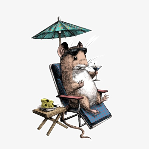 Mouse cocktail umbrella dark