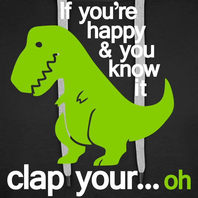 Huvtröja Premium, Happy T-Rex