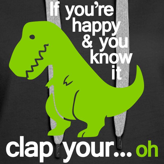 Huvtröja dam Premium, Happy T-Rex
