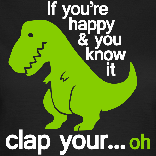 T-shirt dam, Happy T-Rex