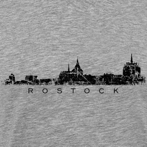 Rostock Skyline (Vintage Schwarz)
