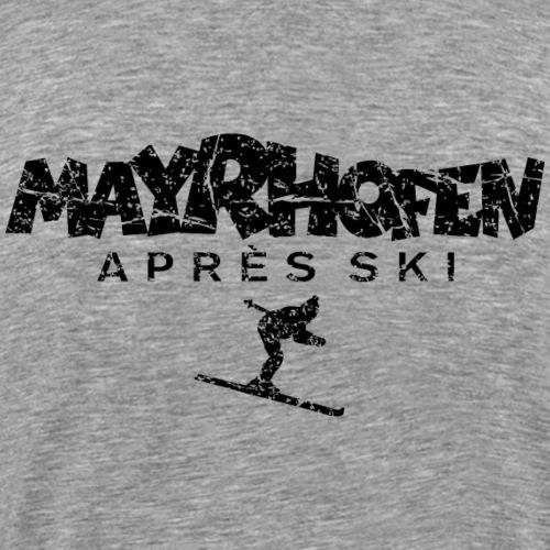 Mayrhofen Après-Ski Skifahrer (Vintage Schwarz)