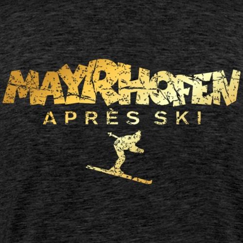 Mayrhofen Après-Ski Skifahrer (Vintage Gold)