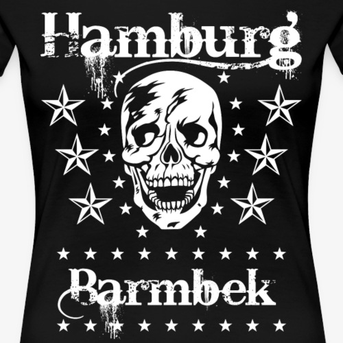 51 Hamburg Stadtteil Barmbek Skull Totenkopf