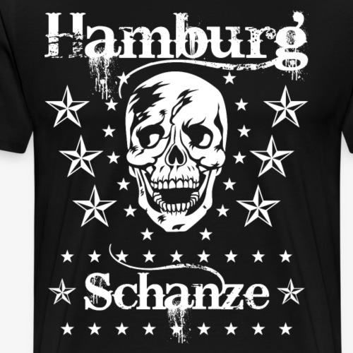 54 Hamburg Stadtteil Schanze Skull Totenkopf