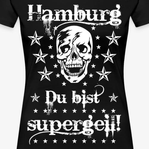 64 Hamburg Du bist supergeil Skull Totenkopf