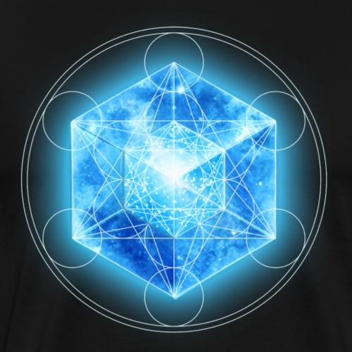 Metatrons Würfel mit Tesseract, 4D Hypercube, digital, Symbol Dimensionsverschiebung,