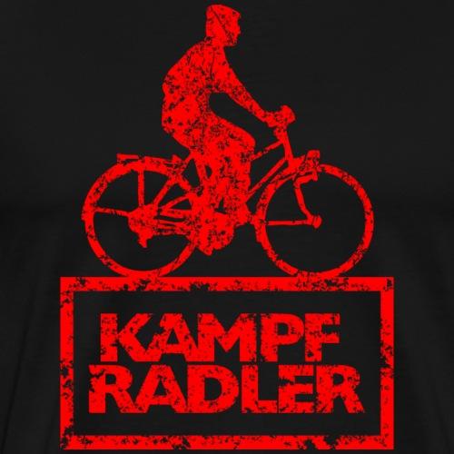 Kampfradler Biker Fahrradfahrer (Vintage Rot)