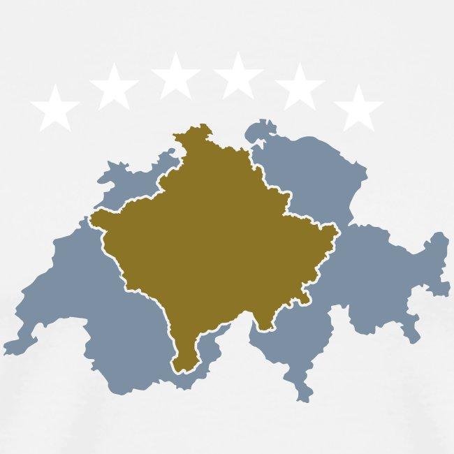 Männer Premium T-Shirt Kosovo Schweiz