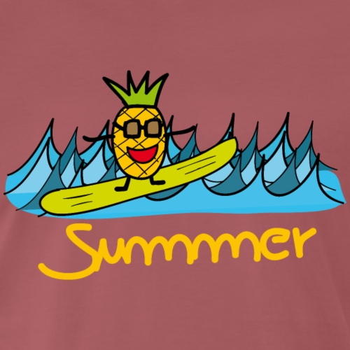Sommer -Ananas - Surfing