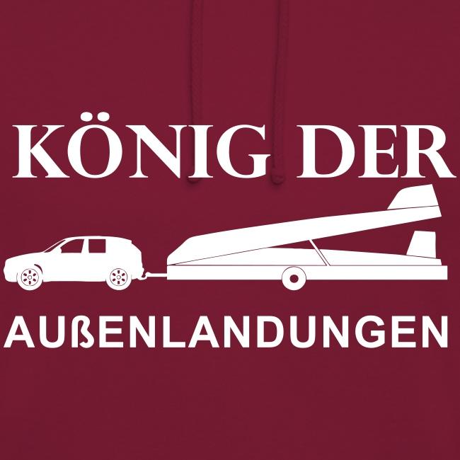 König der Außenlandung - Segelflieger Tasche Beutel