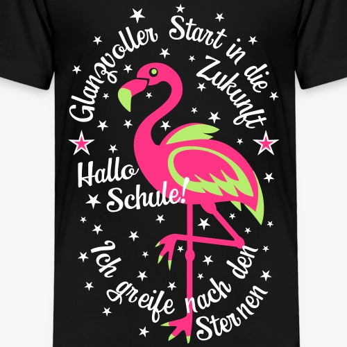 18 Flamingo Glanzvoller Start Zukunft Schulkind