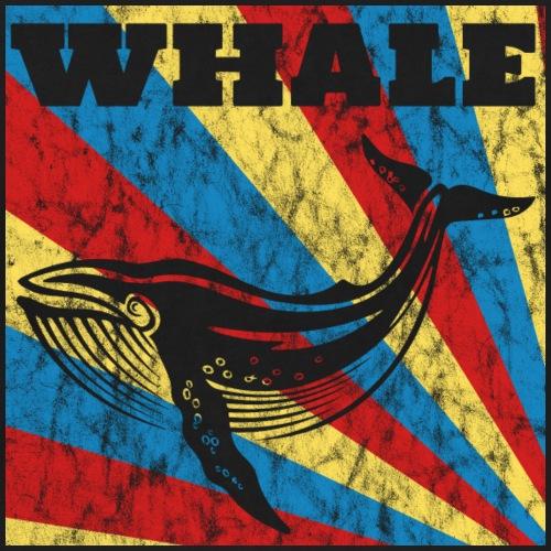 Regard rétro de baleine rétro