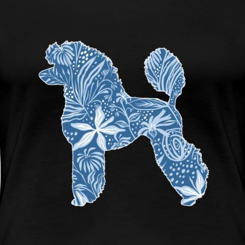Flower Poodle Blue