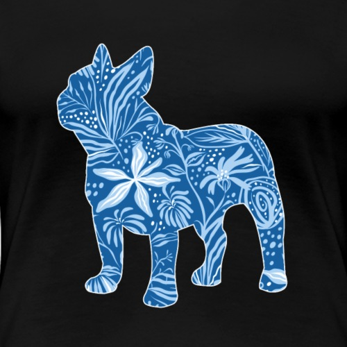 Flower Frenchie Blue