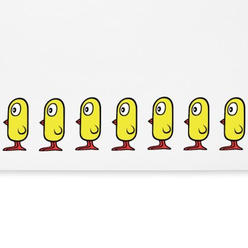 Gelbe Vögelchen Küken Vögel in Reihe