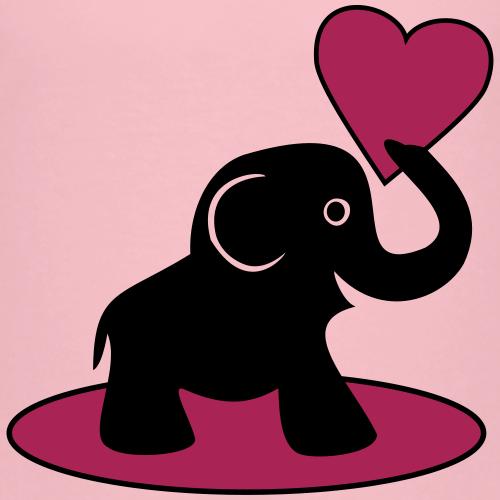 Süßer Elefant mit Herz