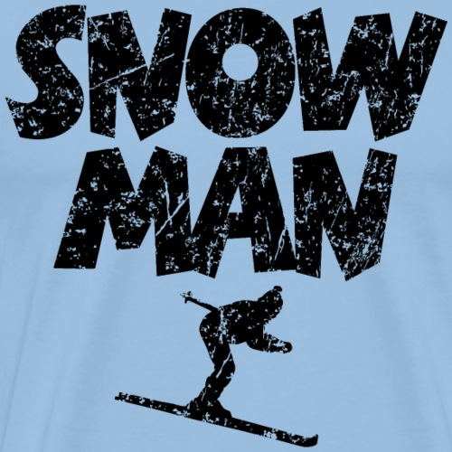 Snowman Ski Skifahrer
