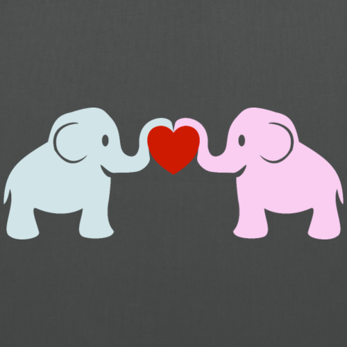 Süße Elefanten Rüssel Herz