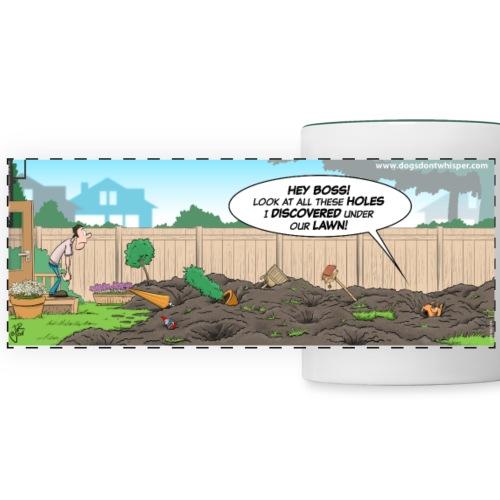 Dog digging up the yard