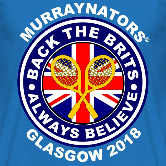 Murraynators - Davis Cup Glasgow - Mens Crew Neck T. Blue.