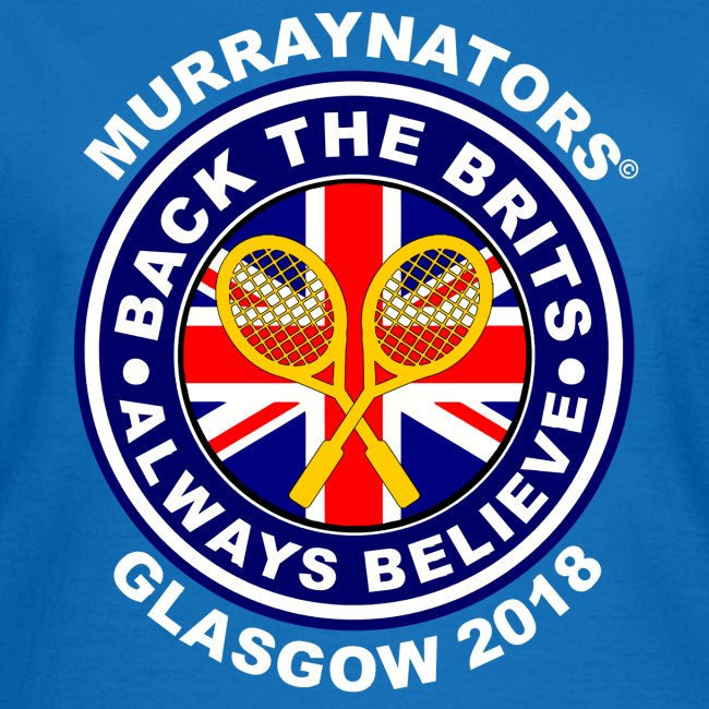 Murraynators - Davis Cup Glasgow - Ladies' Crew Neck T. Blue.