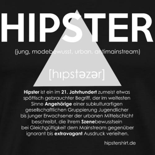 Hipster Shirt Erläuterung weiss