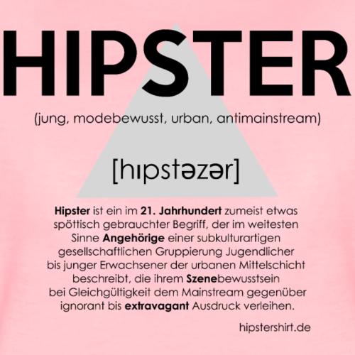 Hipster Shirt Erläuterung schwarz