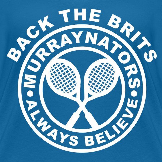 Murraynators (Design 2) - Davis Cup Glasgow - Ladies' V-Neck T. Blue.