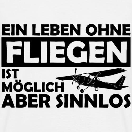 Motorflieger Pilot lustig Geschenk Spruch