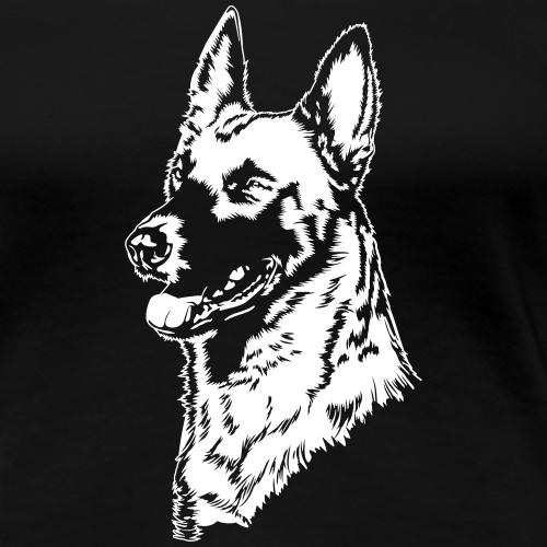 Malinois_Portrait auf dunklen Shirts
