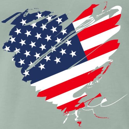 USA Amerika Sterne und Streifen Herz Grunge Flagge