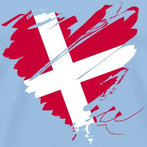 Dänemark Skandinavien Europa EU Flagge Herz hygge