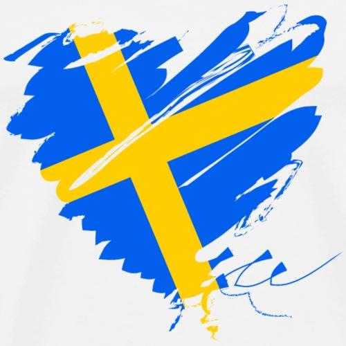 Schweden Skandinavien Europa Fahne Grunge Herz